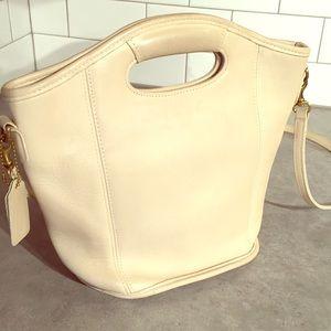 Vintage cream coach handbag